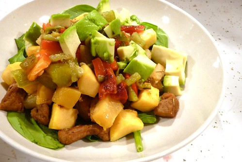 Pork, Pineapple and Chile Salad with Avocado
