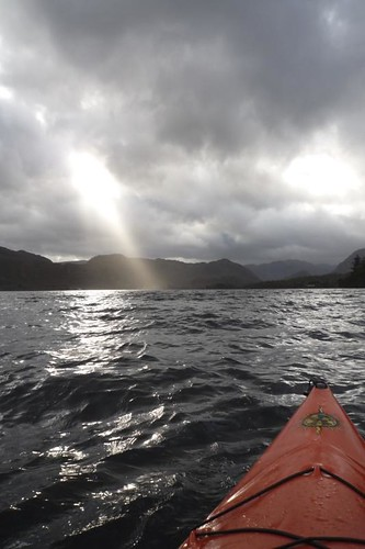sun ray over derwent water