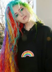 Rainbow Hair in 19 Colors (wisely-chosen) Tags: november selfportrait dawn lensflare redhair pinkhair bluehair orangehair 2009 picnik purplehair greenhair yellowhair rainbowhair verylonghair colorfulhair lavenderhair naturallycurlyhair rainbowhoodie adobephotoshopcs4 multicolorhair manicpanicprettyflamingo manicpanicflaming manicpaniccottoncandypink manicpanicatomicturquoise manicpanicrubine manicpanicredpassion manicpanicvampirered manicpanicultraviolet manicpanicbadboyblue manicpanicfuschiashock manicpanicpurplehaze manicpanicshockingblue manicpaniclielocks manicpanicelectricbanana manicpanicelectriclava manicpanicelectriclizard manicpanicmysticheather manicpanicplumpassion manicpanictigerlily