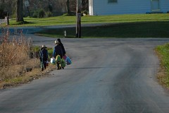 Off to School (cindy47452) Tags: girls boys kids children lunch indiana amish orangecounty oldorder walkingtoschool dschxq