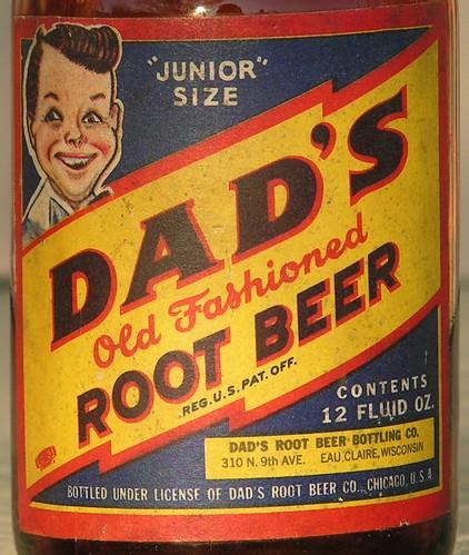 Vintage dads root beer bottle cap sign - metal soda advertising