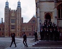 Eton College School Yard and chapel. (Mark Draisey Photography) Tags: school college education uniform chapel posh schooluniform eton boardingschool schoolyard etoncollege privateschool publicschool schoolboys upperclass independentschool privileged britisheducation britishpublicschools