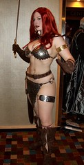 Red Sonja (BelleChere) Tags: costume cosplay redhead warrior adamhughes dragoncon bellechere sdcc shedevil linsner redsonja metalbikini frankcho scalemail
