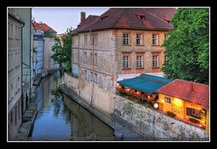 Prague (Mike G. K.) Tags: bridge buildings river lights restaurant view prague tent czechrepublic charlesbridge hdr tonemapped tonemapping singlejpghdr platinumheartaward
