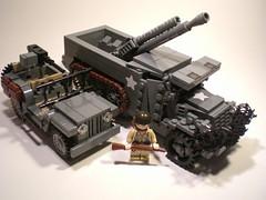 M3 Halftrack 'Fighting Iron' T19 105 mm HMC (PhiMa') Tags: usa lego wwii ww2 worldwar2 allies howitzer brickarms m3halftrack