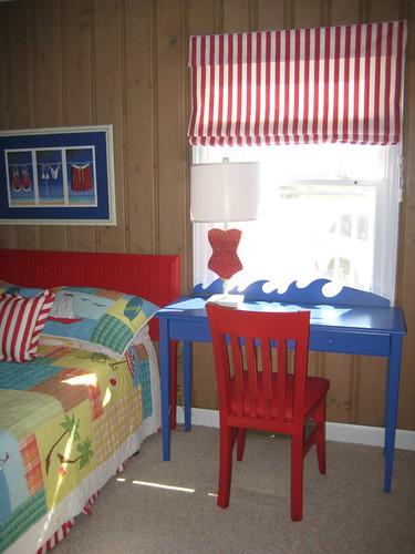 Beach House Kids Room with study table
