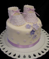 Baby Shower Cake (The Couture Cakery) Tags: babybooties showercake
