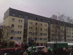 Naziaufmarsch, vom Kessel aus gesehen