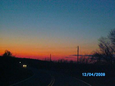 Dec 4. 2009 sunset