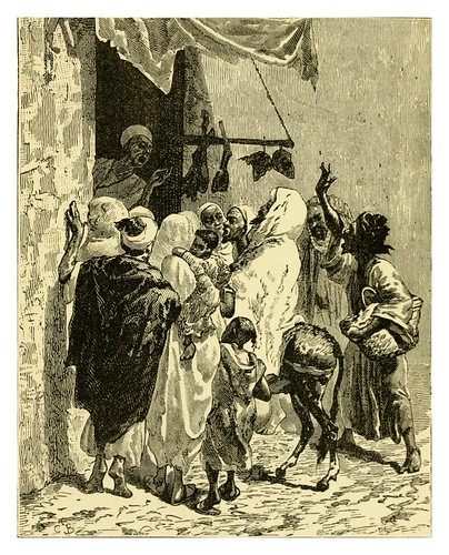069-Una carniceria en Fez-Morocco its people and places-Edmondo De Amicis 1882