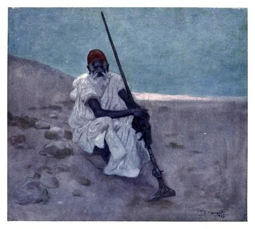 013-Un centinela de guardia en Marruecos-Morocco 1904- Ilustraciones de A.S. Forrest