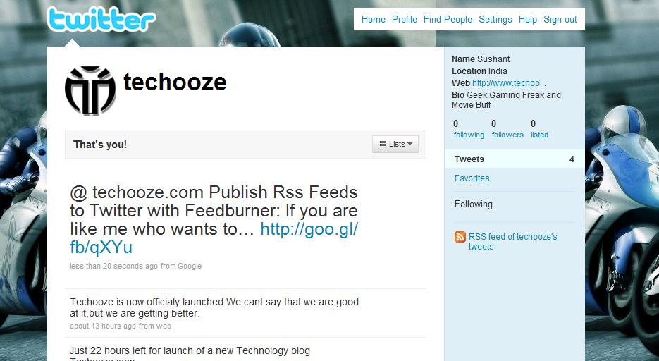 techooze twitter