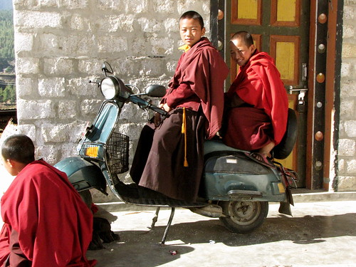 boy monks at play
