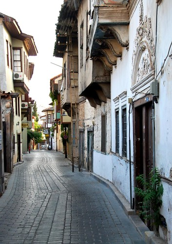street scenes in the kaleiçi (old quarter), antalya