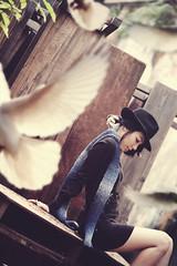 [フリー画像] [人物写真] [女性ポートレイト] [アジア女性] [帽子]       [フリー素材]