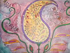 """18"""" x 26"""" On Found Wood (Rick Cheadle Art and Designs) Tags: blue red brown white abstract black flower color colour green art love floral yellow illustration outside design cool whimsy acrylic hand purple graphic dragonfly furniture folk circles painted funky exotic handpainted tables oil naive spiritual decor paisley eclectic embossed acrylics whimsical ecclectic abstrct desibn rickcheadle anniesloanchalkpaint shabbyfrench"""