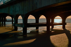 DP2 (Seaton Carew.) Tags: concrete large calm pick sunlit bournemouth solid eveningglow purbeckhills dp2 ebbtide eveningshadows shadowsinthesand seatons pierinsunlight