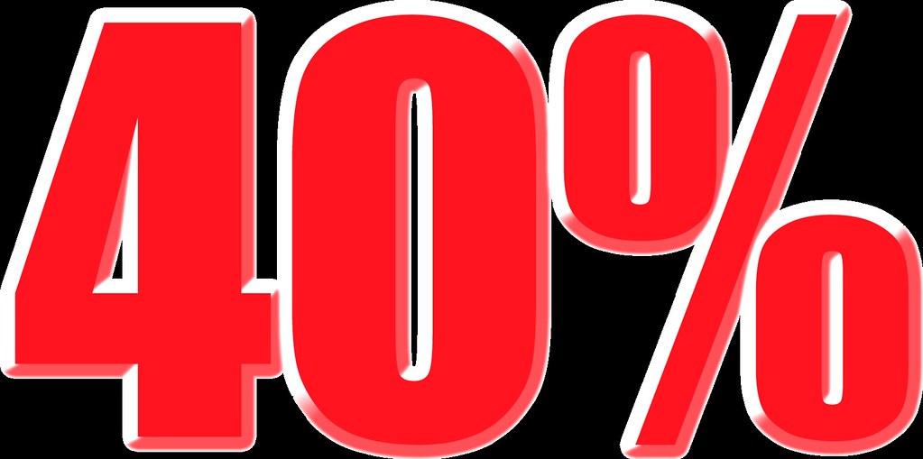 imagenes del 40% para carteles de rebajas