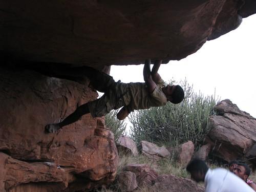 Badami Rock Climbing Bouldering Sunil