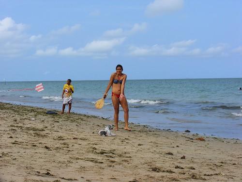 Domingo é dia de praia e frescobol!
