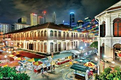 Smith Street, Singapore. (Reggie Wan) Tags: building night evening singapore asia southeastasia chinatown smithstreet junction soe twop asiancity prewarbuilding trengganustreet sonya700 reggiewan