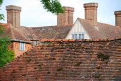 Raising the Roof at Great Dixter! (antonychammond) Tags: new uk roof england garden photo britain middleages eastsussex chimneys christopherlloyd greatdixter kartpostal anticando tejadosroofs manorhousegarden newphotodistillery