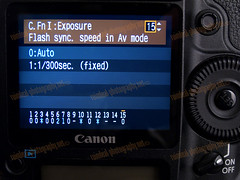 1D MarkIII C.FnI Flash Sync Speed in Av Mode