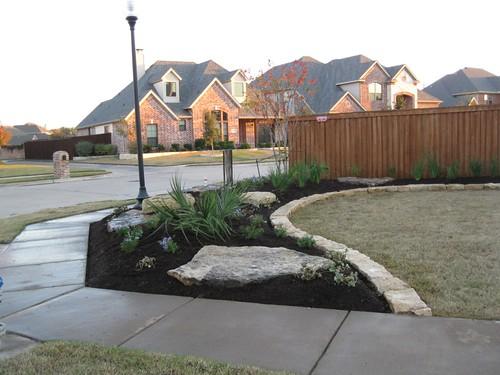 Frontyard landscape edging