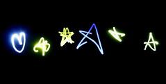 Pica Pica (bata ez) Tags: light people italy rome colour roma italia colore gente persone laser digits renzopiano luce auditorium picapica lettere scritta illuminatedsign festivaldellascienza2010