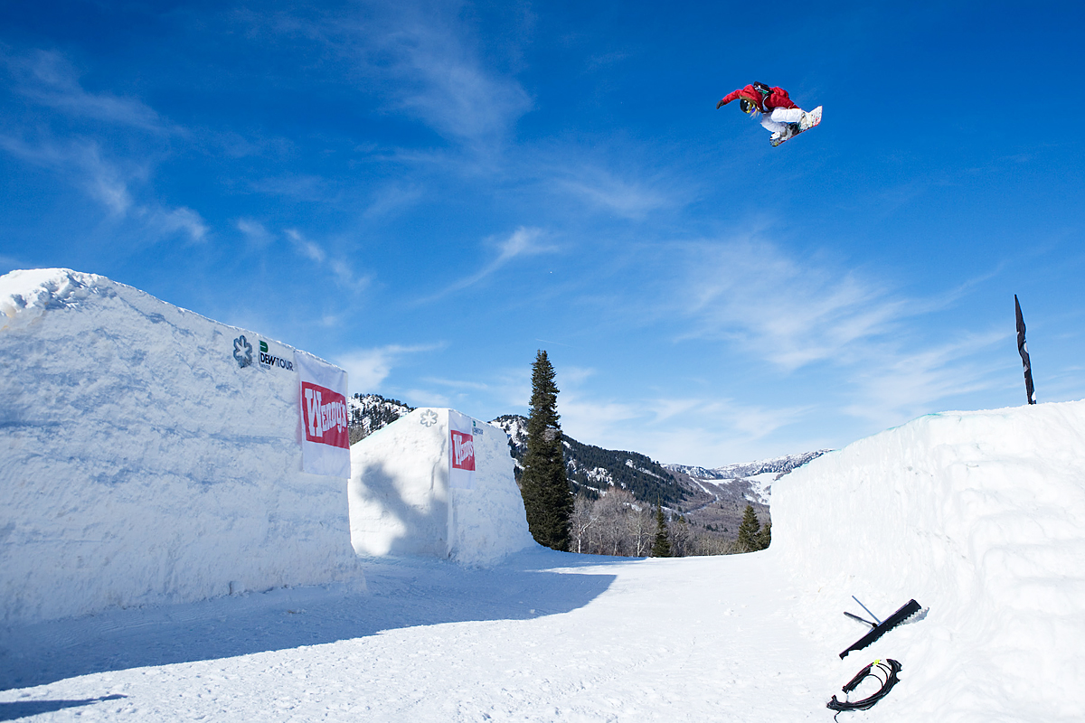 Jamie Anderson Shooting the gap