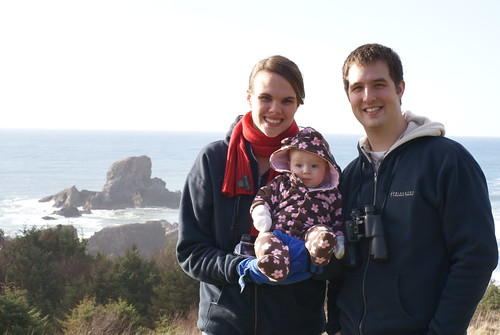 Brant, Jackie, and Maddie on the Oregon Coast