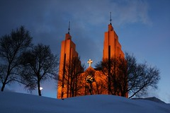 Akureyri church (Rolf Birger) Tags: winter sky church iceland akureyri supershot absolutelystunningscapes