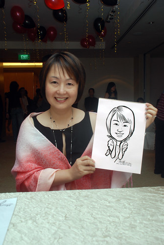 caricature live sketching for birthday party 220110 - 9