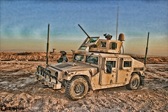 Overwatch (GizmoPhotography) Tags: airplane soldier photography sand military iraq humvee hdr helecopter