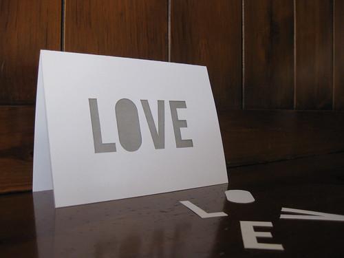 LOVE Die-Cut Staitionery