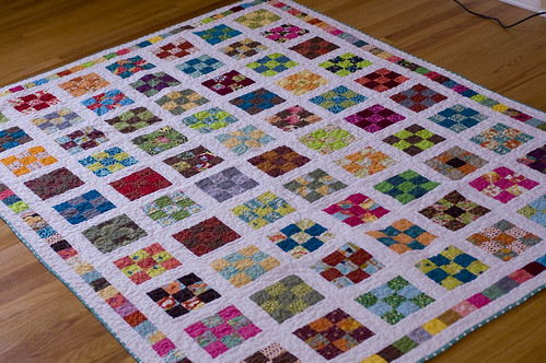 Nine Patch a Day Quilt Along Quilt...finally finished!