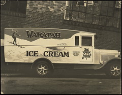 Waratah Ice Cream & Ice Co Ltd delivery van - by Powerhouse Museum Collection