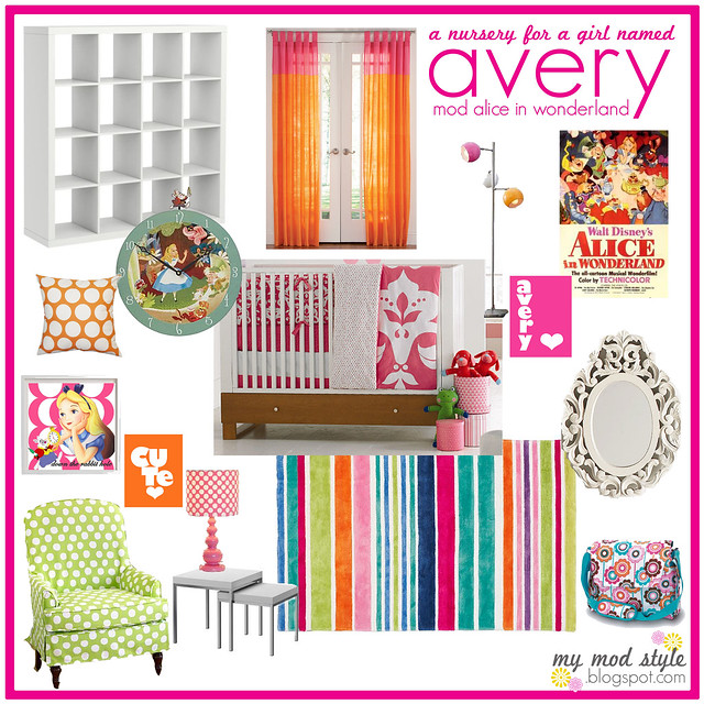 Modern Alice in Wonderland Nursery {plan 1}