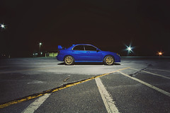 (▲brian james) Tags: new longexposure blue winter cold lines night canon eos gold lights newjersey parkinglot long exposure time parking wing lot sharp nighttime subaru jersey rims rex impreza wrx sti efs 1022mm subaruwrxsti canonefs1022mm 50d subaruimprezawrxsti canoneos50d