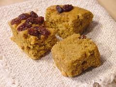 sweet pumpkin cubes1 (briiblog) Tags: pumpkin cinnamon raisins pastry flour egges