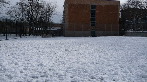 Snowy, crunchy playground