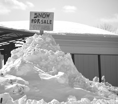 Snow For Sale B&W (podolux) Tags: blackandwhite bw snow signs blancoynegro sign virginia blackwhite nikon snowy va duotone nikkor 18200 2010 d40 route340 nikkor18200vr us340 february2010
