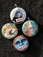 front of wooden charms (tootieu) Tags: altered charms