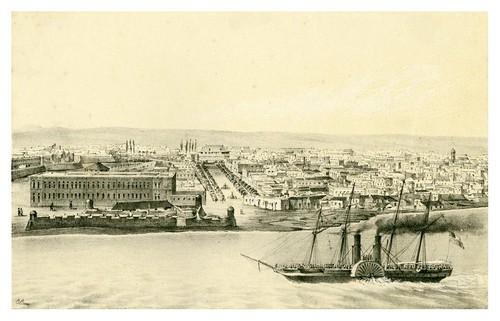 002-Extramuros de la Habana desde la entrada del puerto-Álbum pintoresco de la Isla de Cuba- 1853