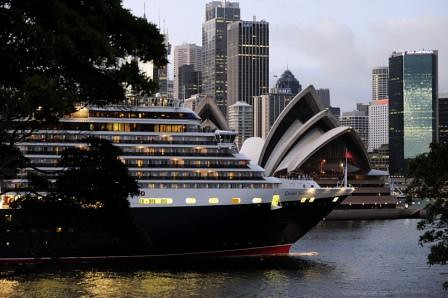Queen Victoria and the Sydney Opera House by CUNARD