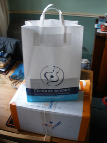 More vampire books (in the bag), and a parcel from Finland