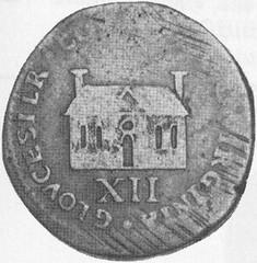 1714 gloucester_token_obv