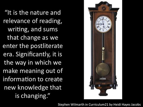 It is the nature and relevance of reading, writing, and sums that change..