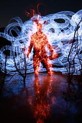 83.72.67 (SHC) (Dennis Calvert) Tags: longexposure light red lightpainting reflection art water night canon fire lights magic flames alabama burn hero nophotoshop xsi spirograph superpower shc lapp sooc 450d lightjunkie denniscalvert photonmancer