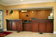 Front Desk (ClarionMesa) Tags: arizona phoenix inn budget lodging az hotels cheap suites mesa accommodations newly clarion remodeled